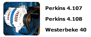 Serpentine Pulley Kit For Perkins 4.107, 4.108 and Westerbeke 40