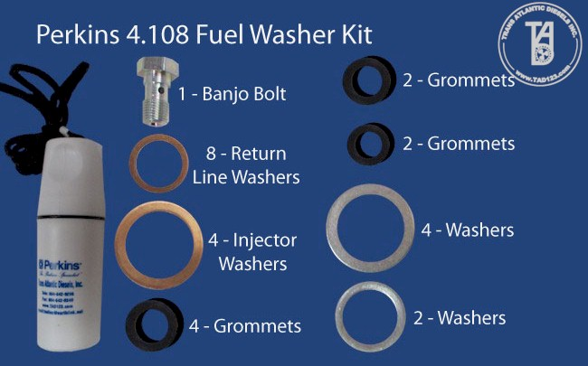 Perkins 4.108 Fuel Washer Kit